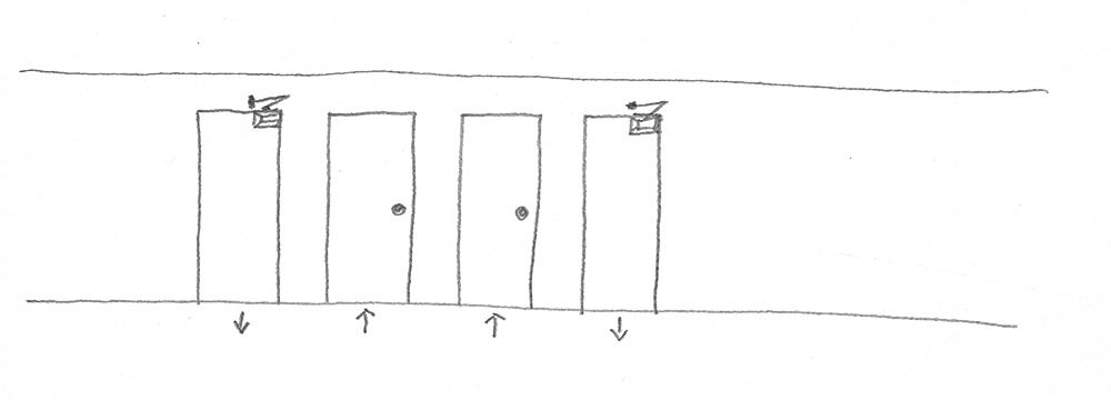 Orte der Entscheidung drawing 1991